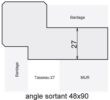 Angle sortant 48x90