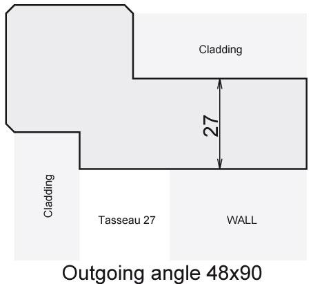 Outgoing angle 48x90