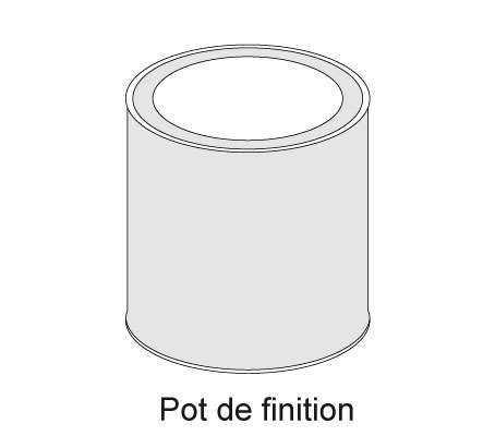 Pot de finition