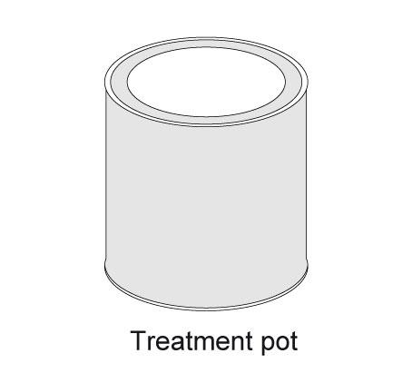 Pot traitement après-coupe